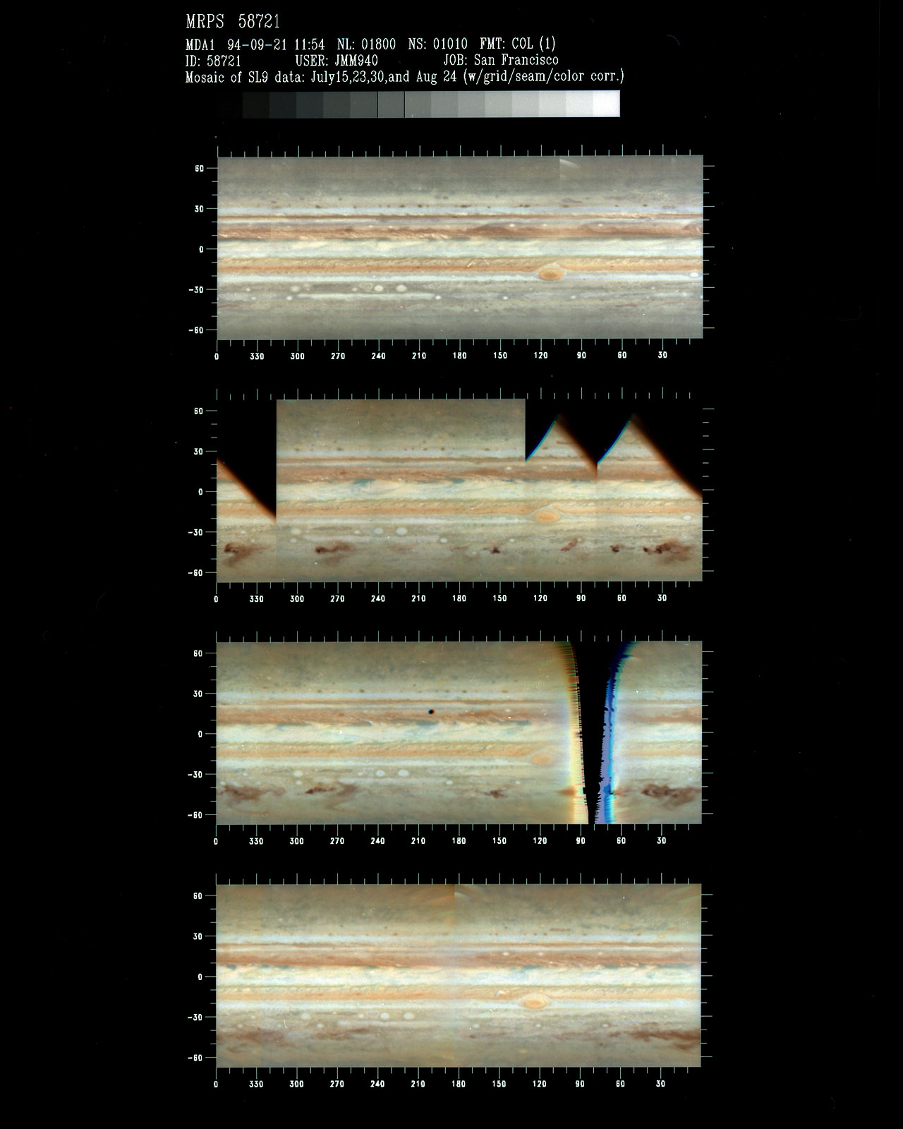 Jupiter Mapping Traces Changes in Comet P/Shoemaker-Levy 9 Impact Sites