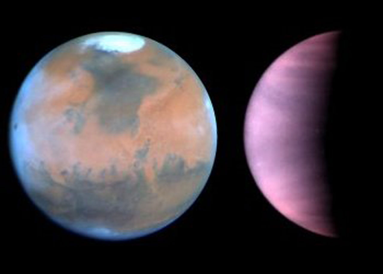 Hubble Monitors Weather on Mars and Venus