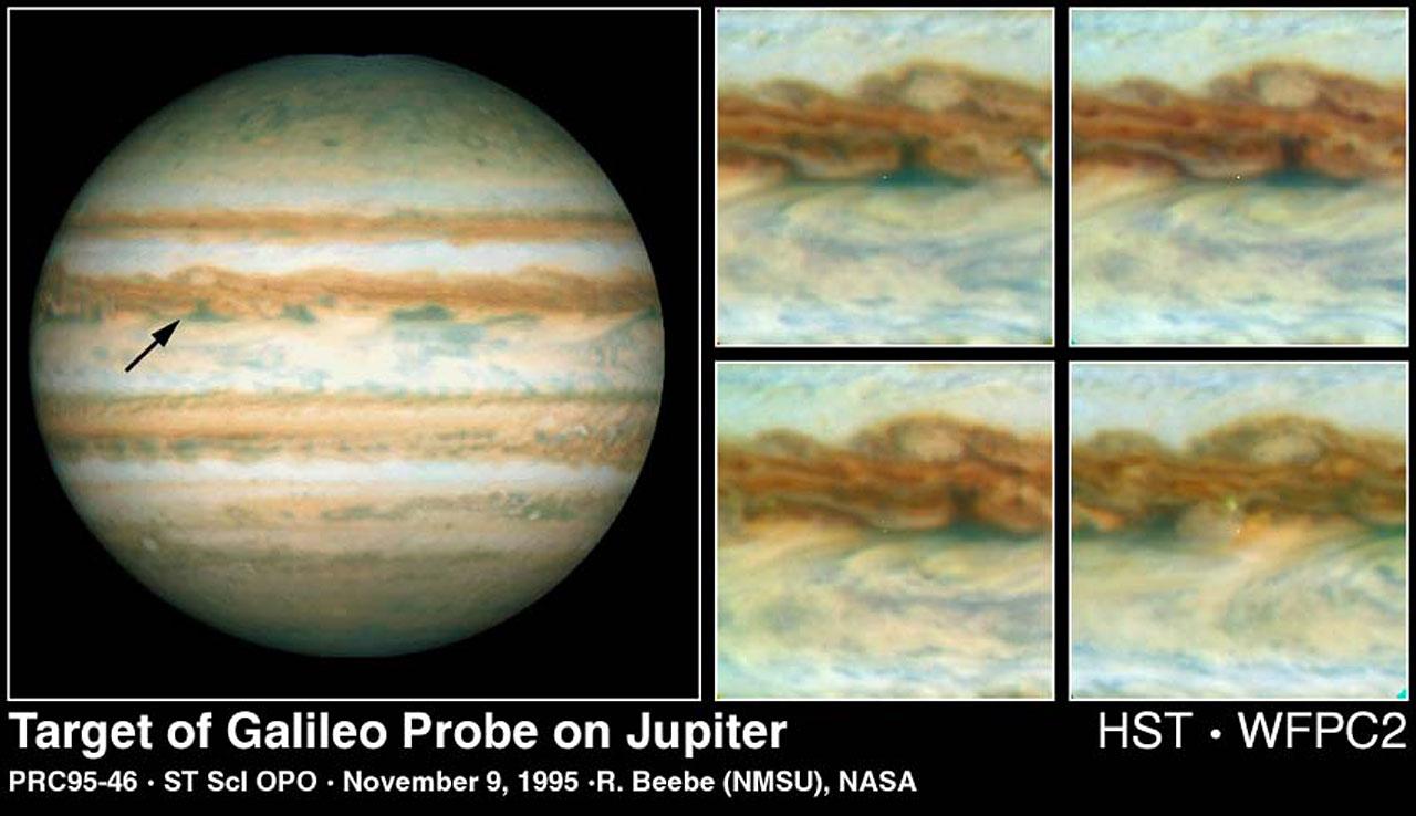 Galileo Probe Entry Site on Jupiter