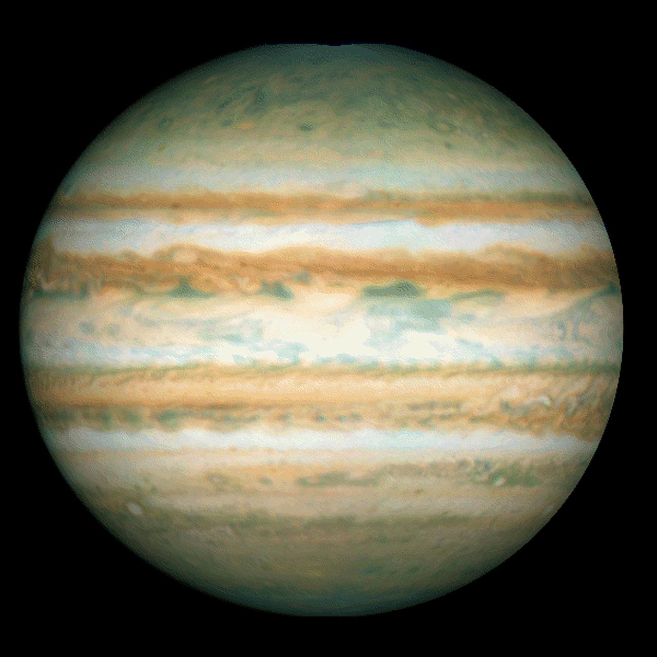 Galileo Probe Entry Site On Jupiter Esa Hubble