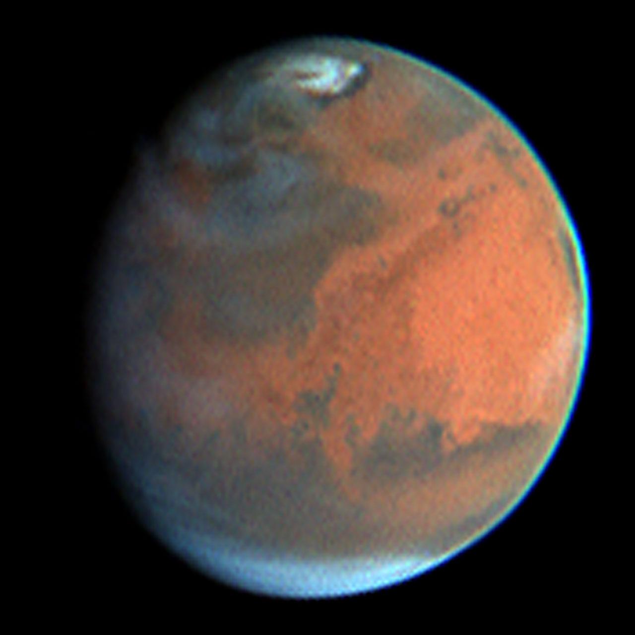 Rapid Weather Change Observed on Mars