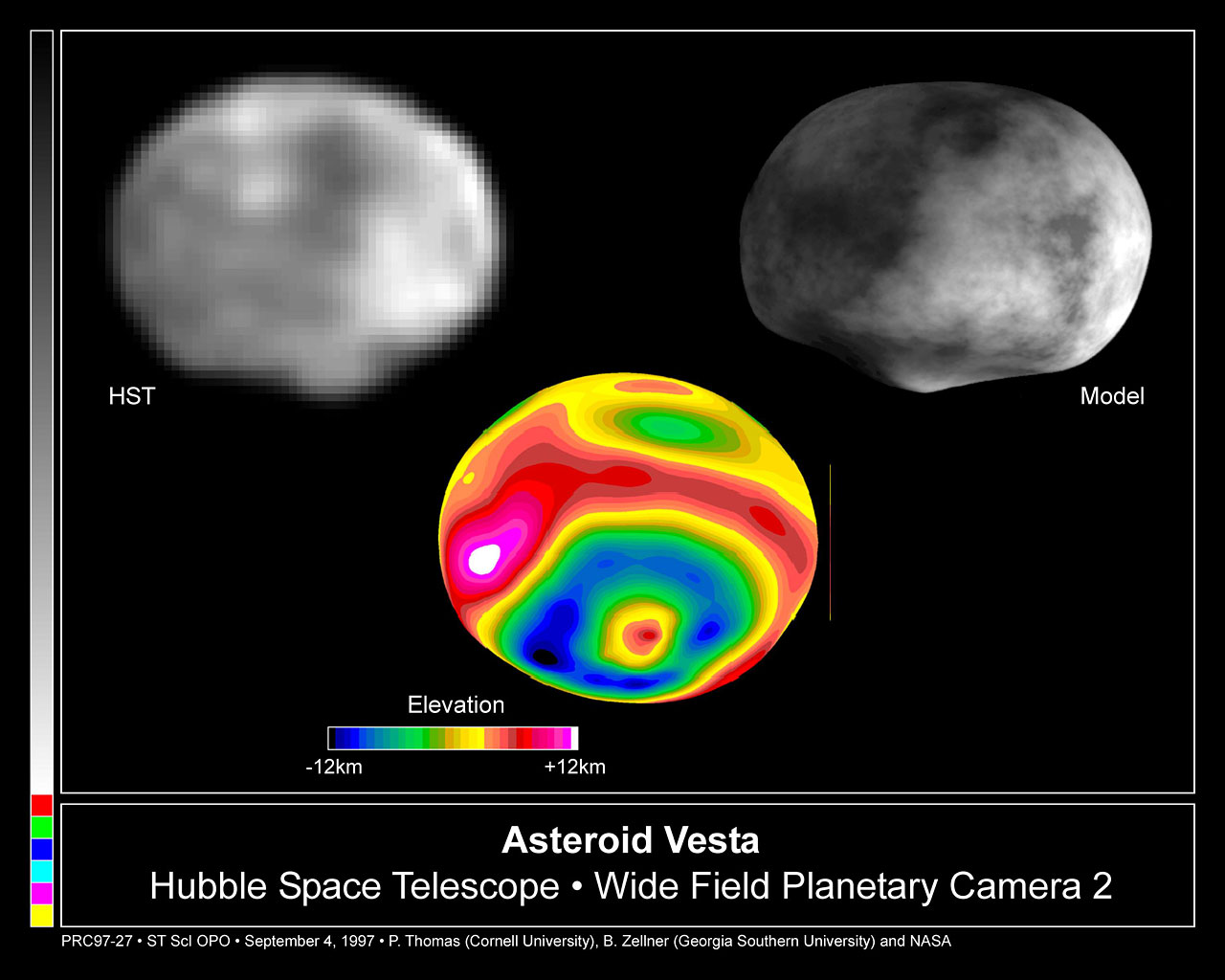 Crater on Asteroid Vesta