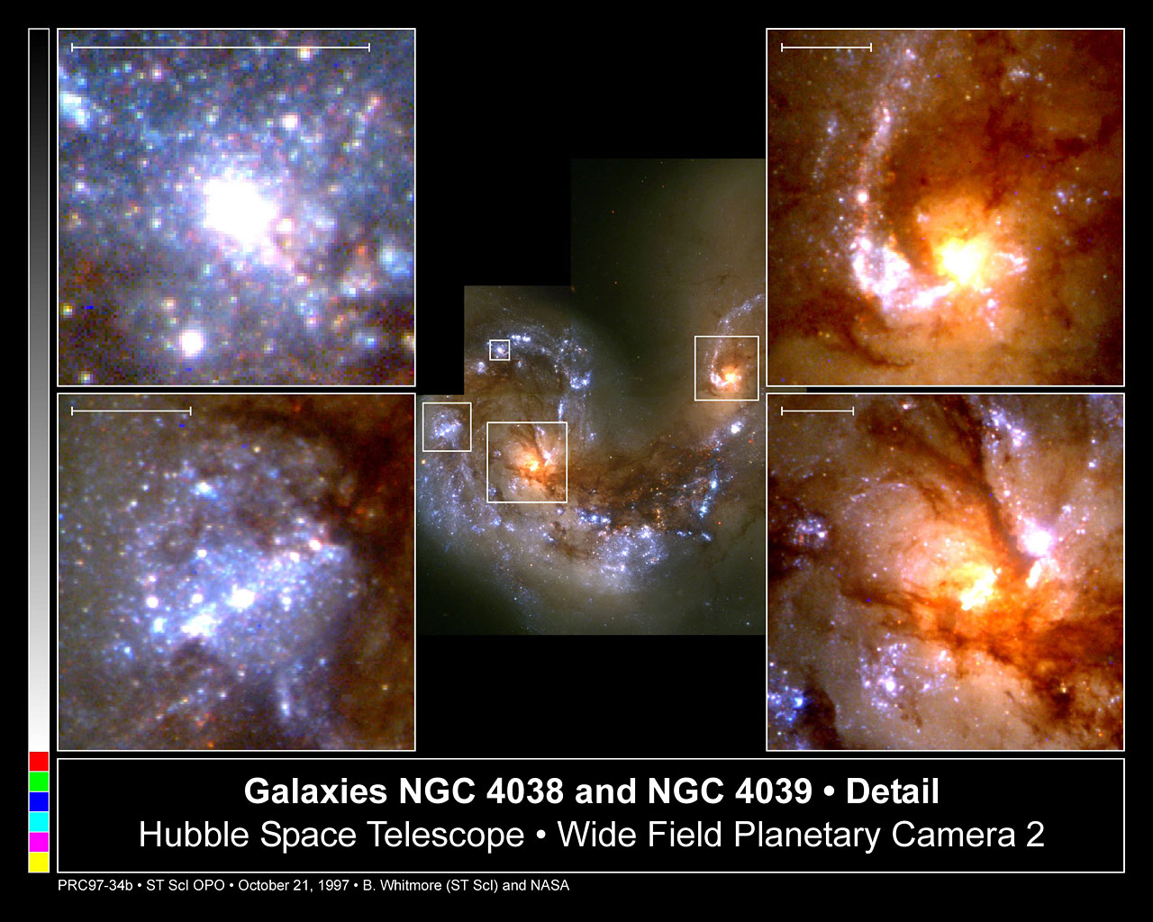 Close-Up of Star Formation in Antennae Galaxy