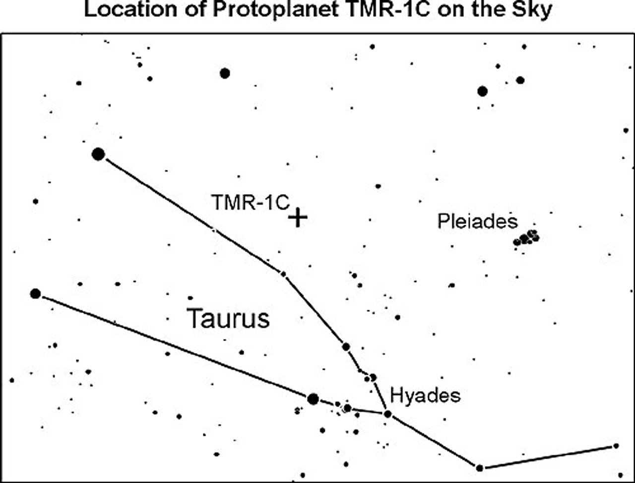 Location of TMR-1C on the Sky