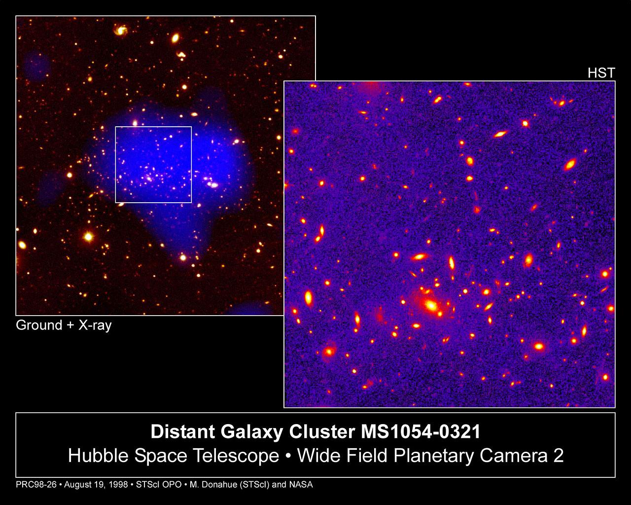 Telescopes Unveil View Of Remote, Massive Galaxy Cluster
