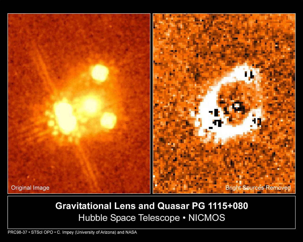 Gravitational Lens and Quasar PG 1115+080