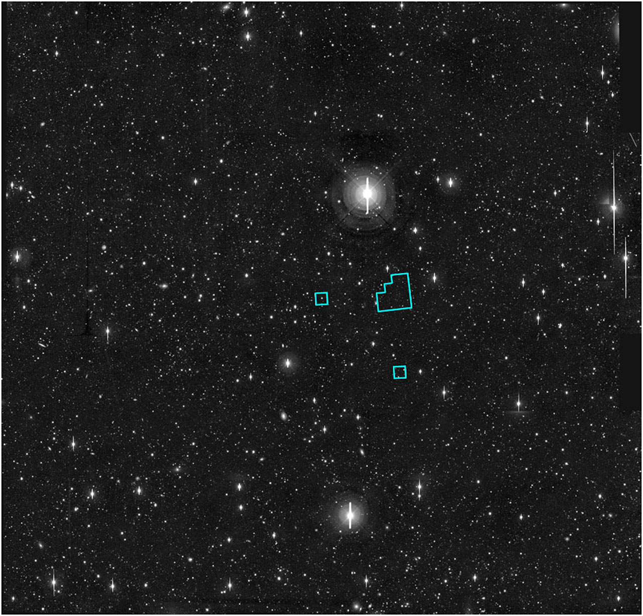 HDF-S on ground-based image