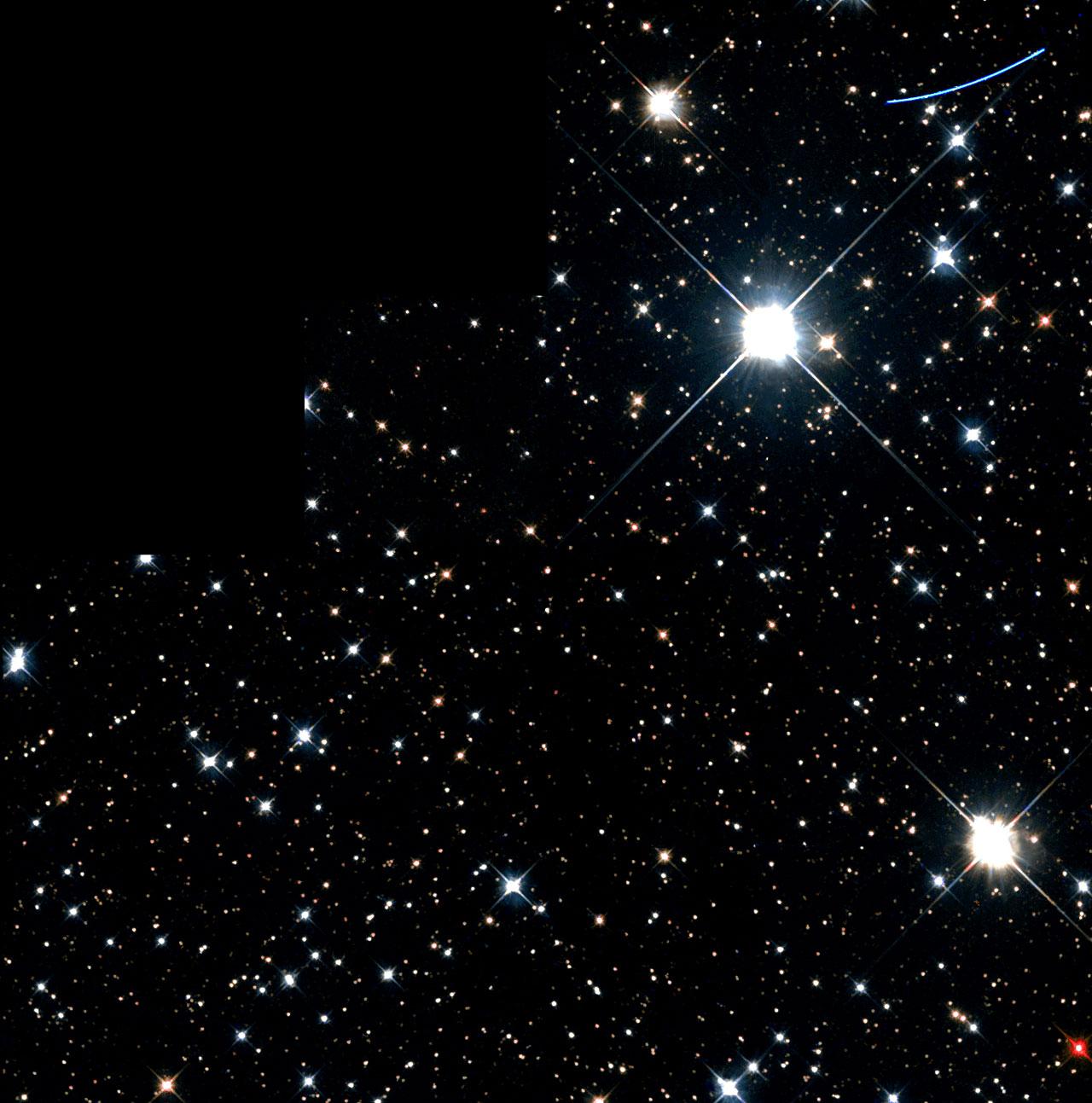 A Mote in Hubble's Eye