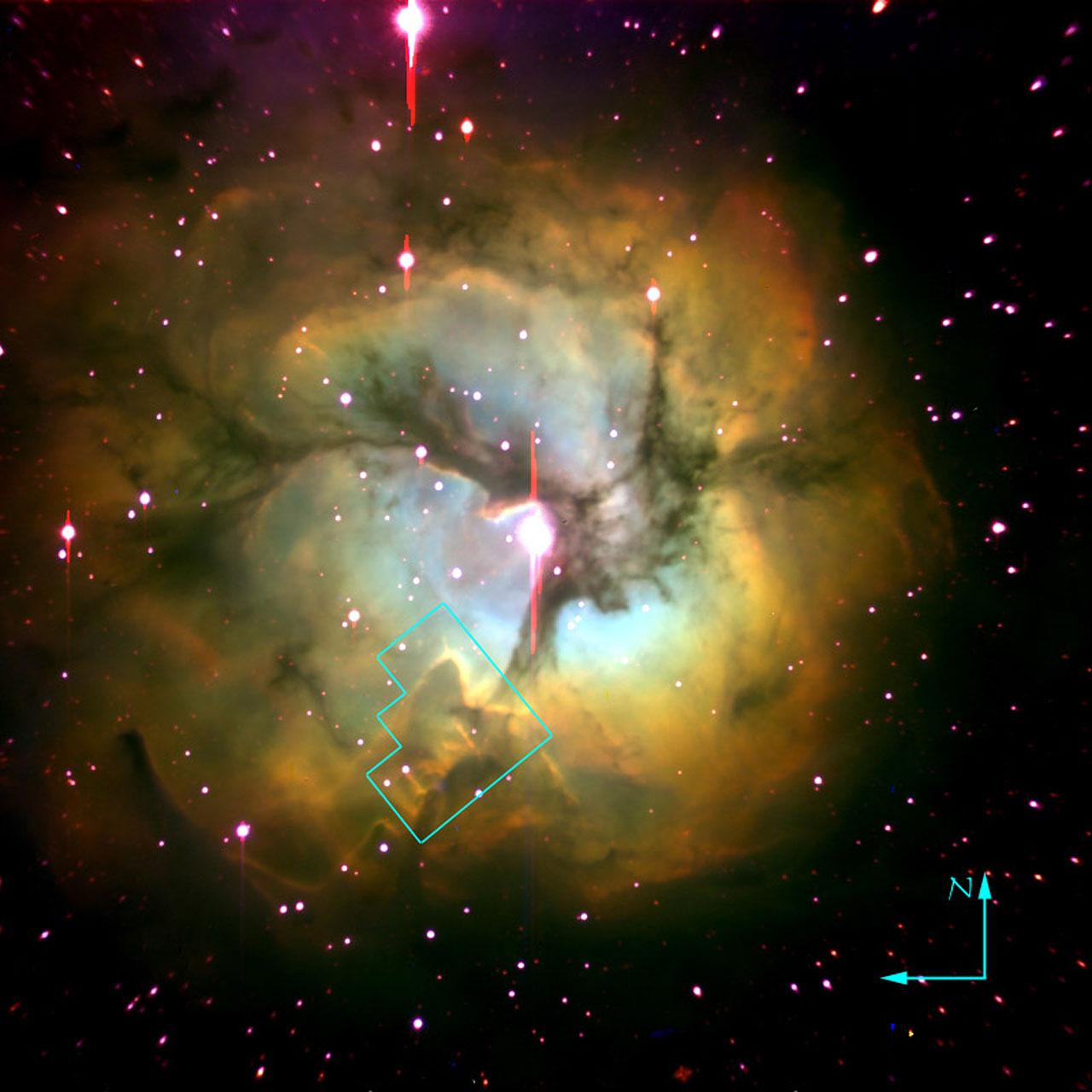 Trifid Nebula (ground-based image)