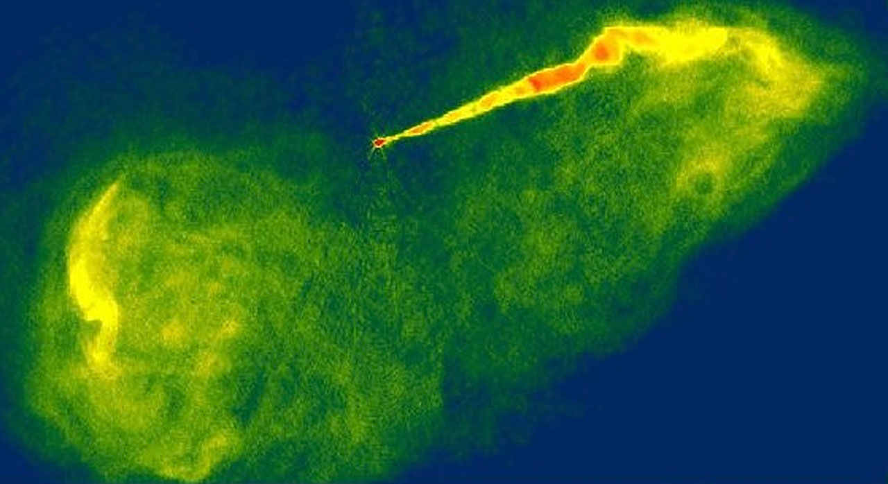 Close-up Look at a Jet near a Black Hole in Galaxy M87 (Ground-Based View)