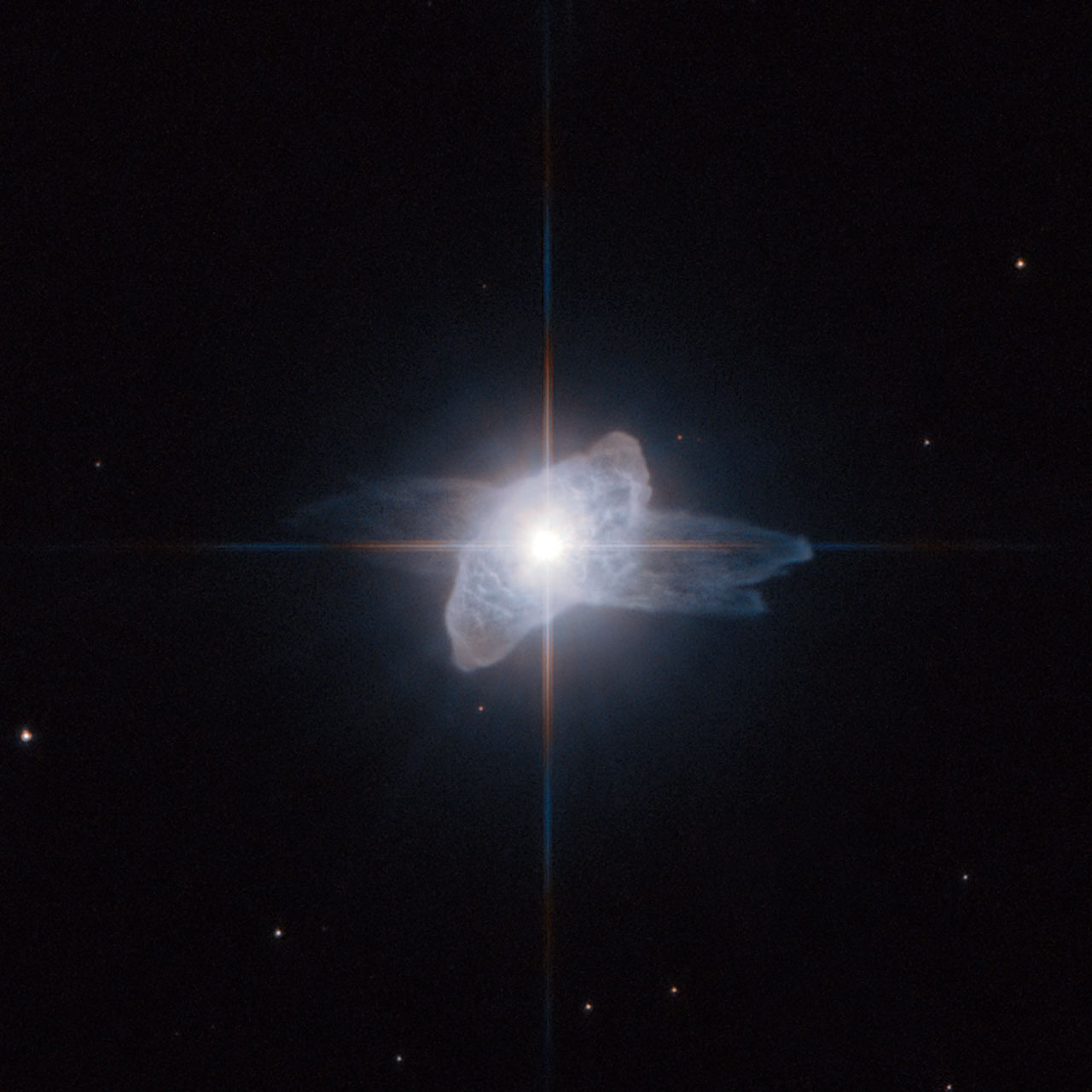 A dying star starts shedding its skin