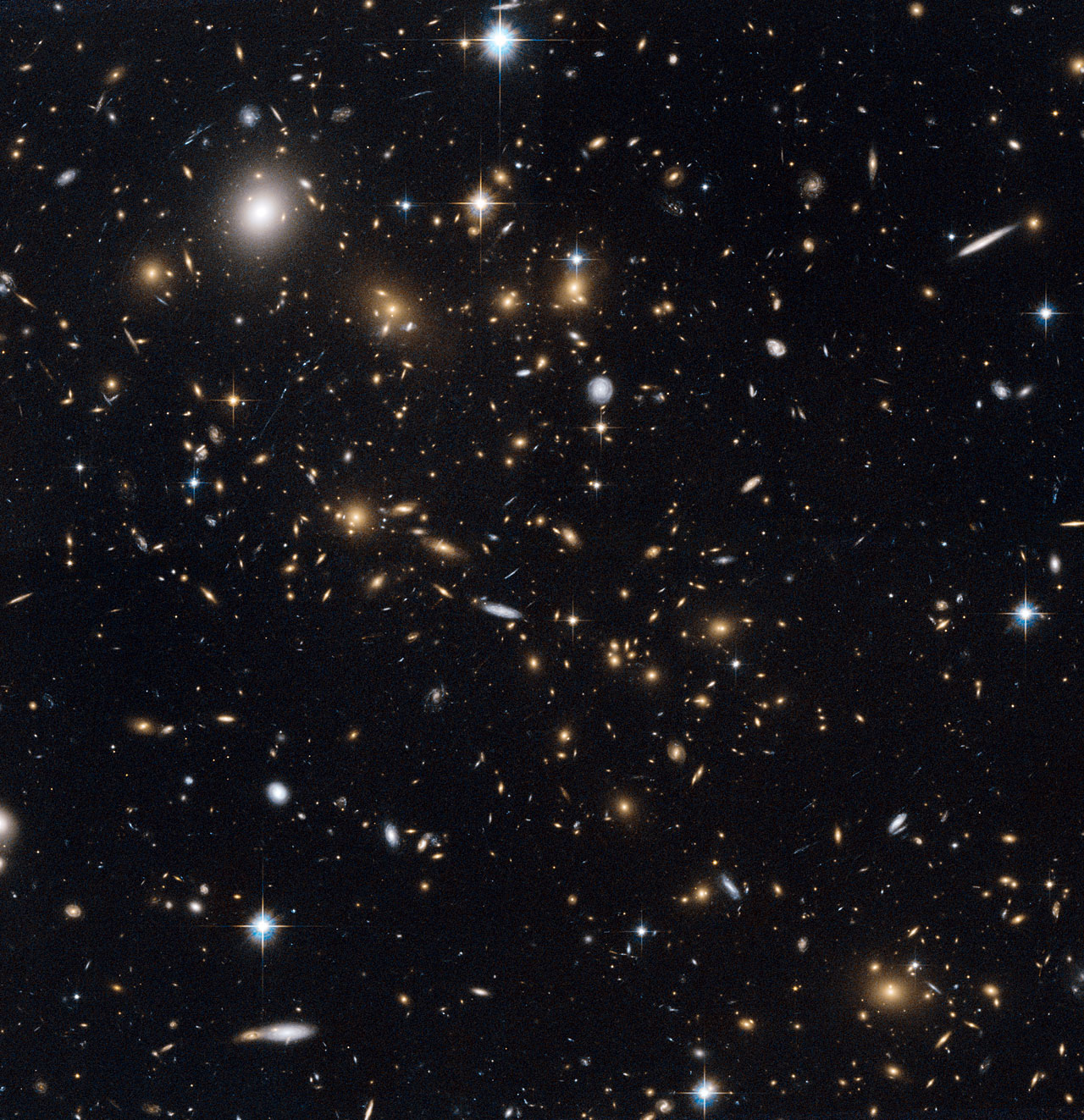 A snowstorm of distant galaxies