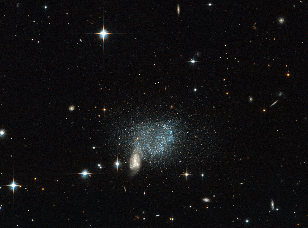 Stars fleeing a cosmic crash