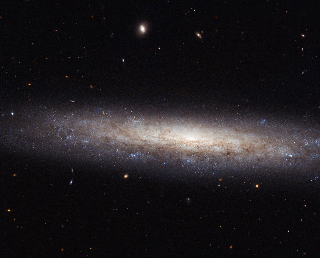 A dusty spiral in Virgo