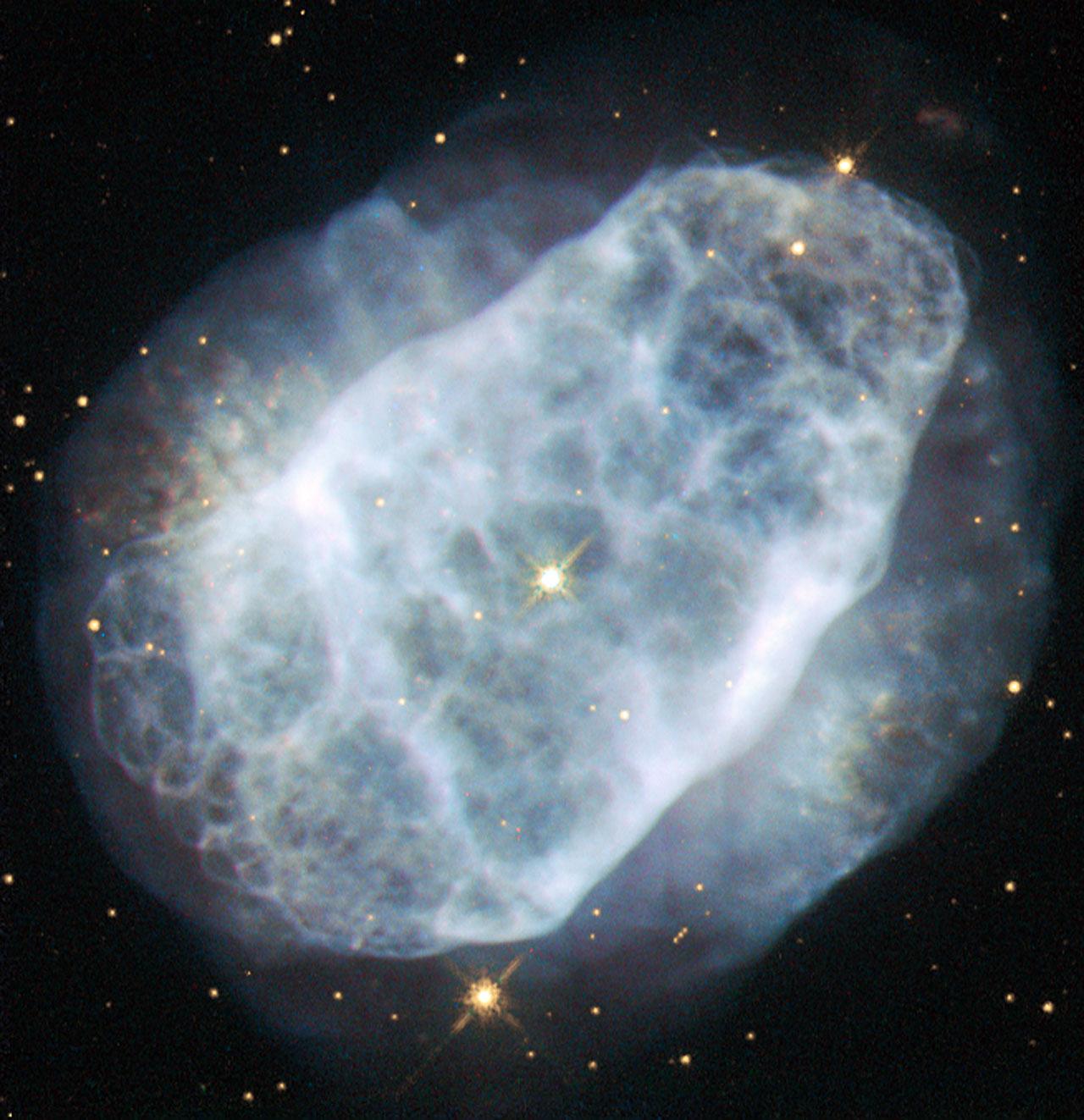 A nitrogen-rich nebula