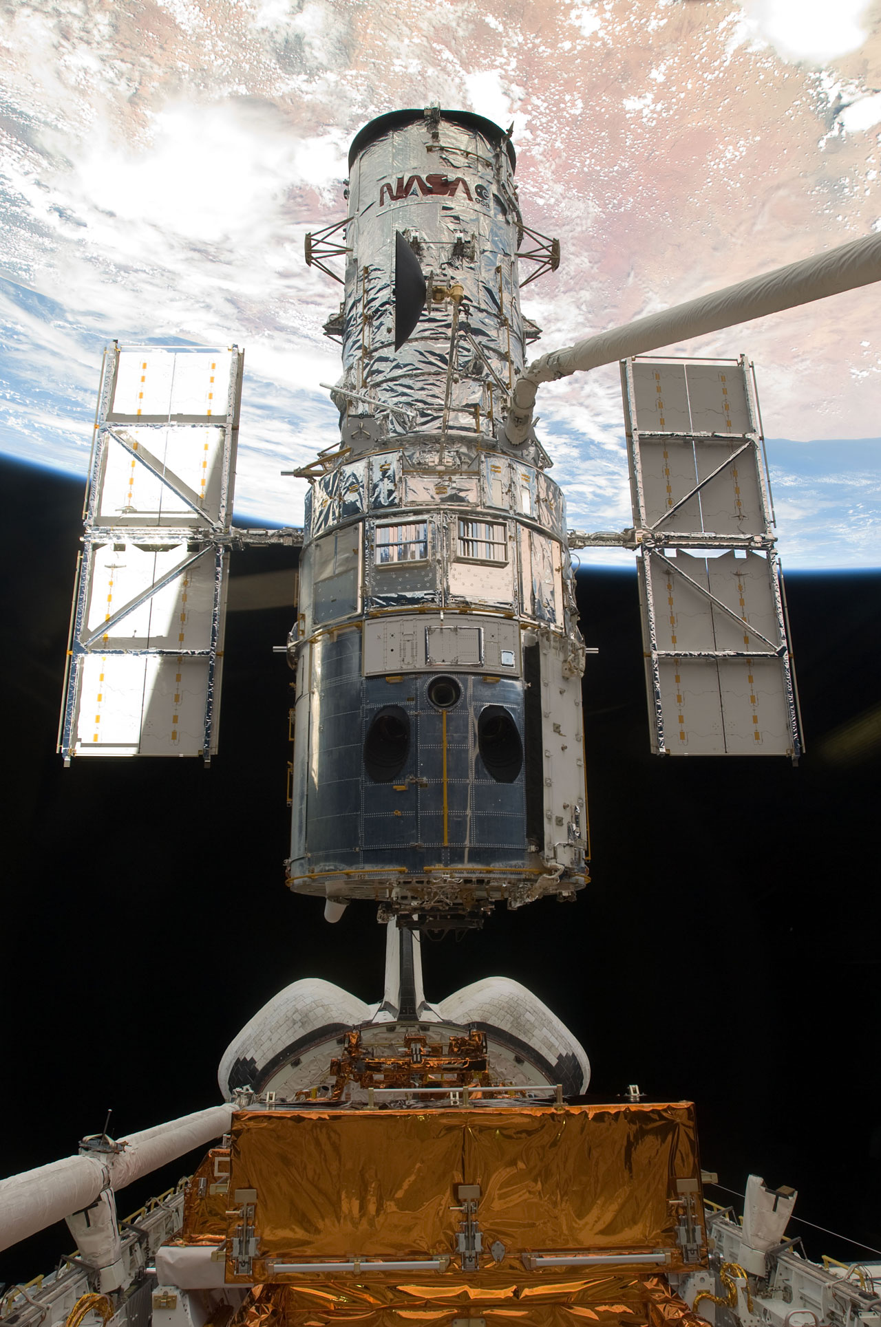 Sm4  Hubble Space Telescope Just Before Astronauts