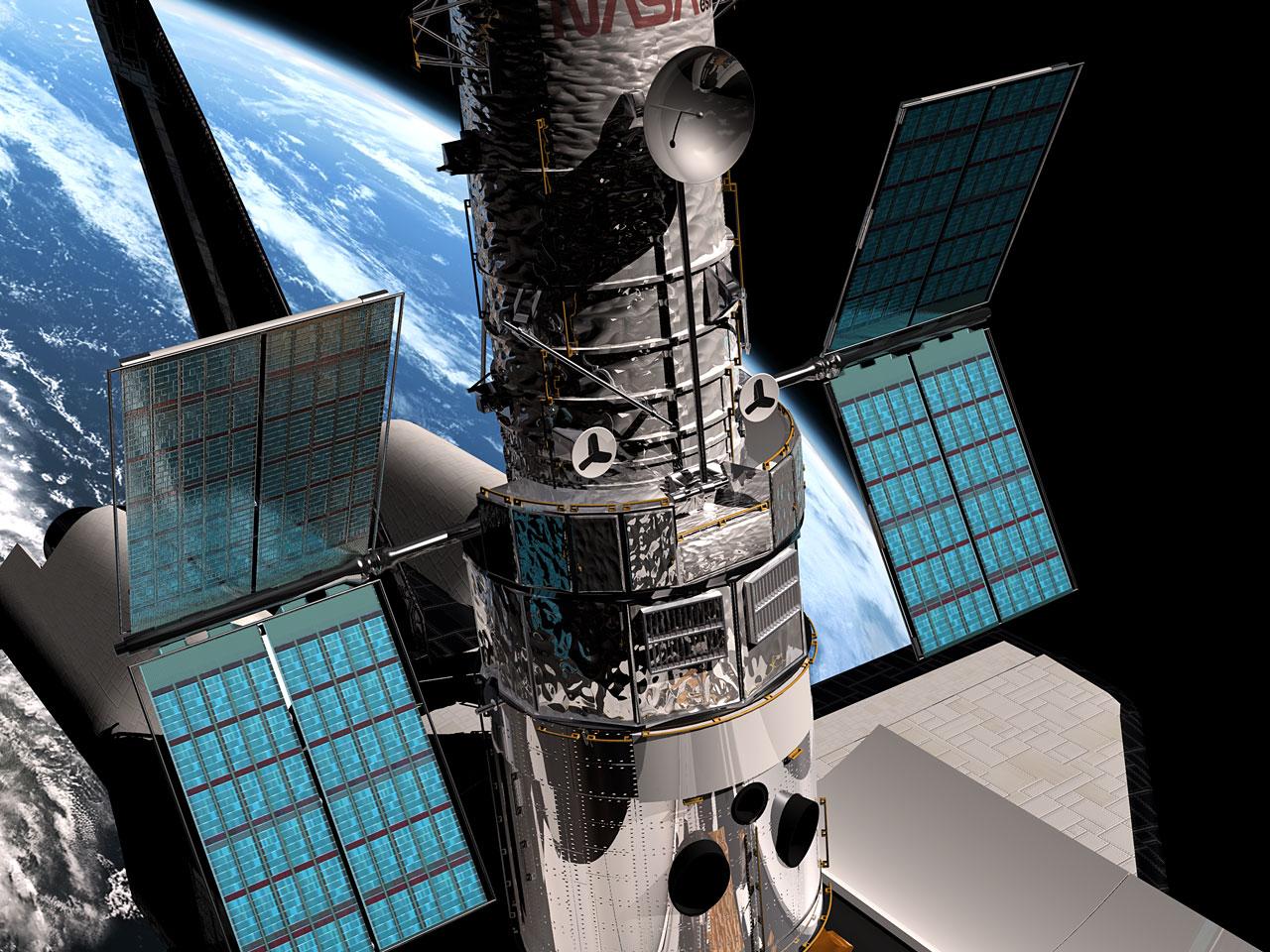 SM3B - Hubble's solar panels unfolding