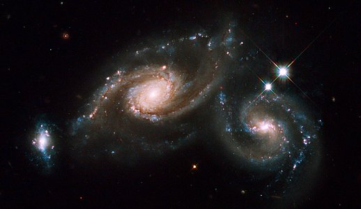 Hubble celebrates the International Year of Astronomy 2009 with the galaxy triplet Arp 274