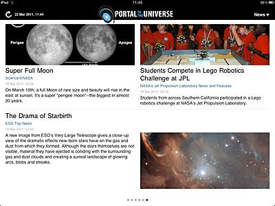 The Portal to the Universe iPad App Screenshot