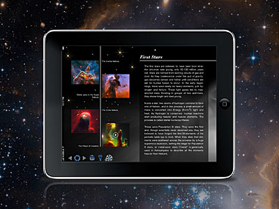 Screenshot of the Back in Time iPad app
