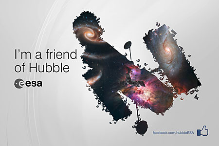 ESA/Hubble reaches 100 000 Facebook friends