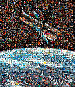 Mosaic: 100 000 Facebook friends