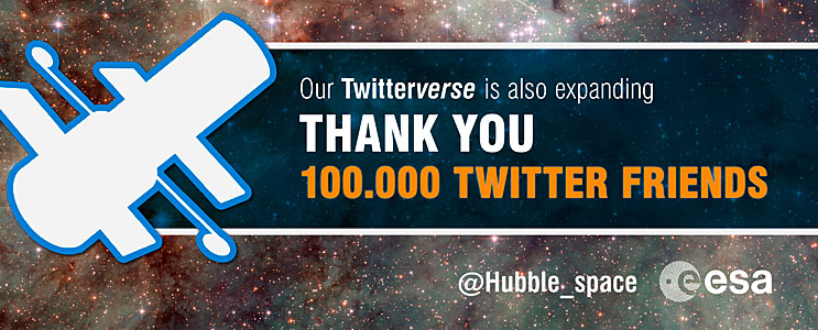 ESA/Hubble reaches 100 000 Twitter followers