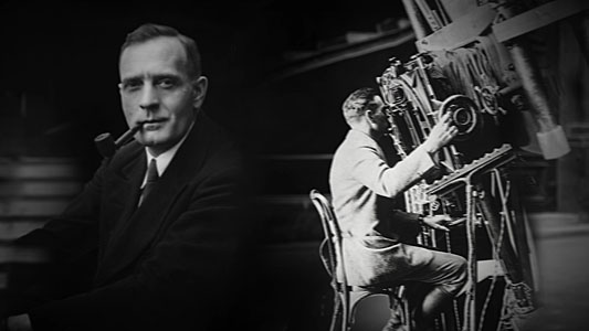 Still from Hubblecast episode 89: Edwin Hubble