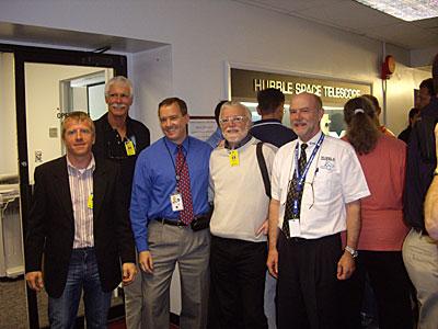 ESA HST team poses with Keith Walyus