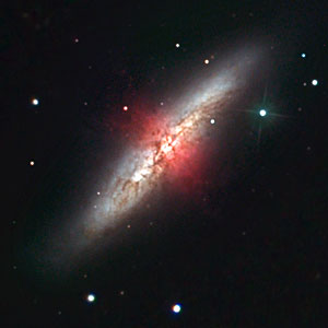 Ground-based close-up view of M82