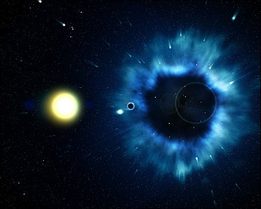 Missing link found between supernovae and black holes (artist's impression)