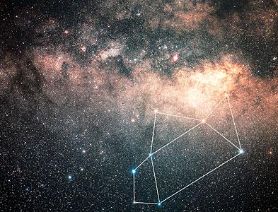 Sagittarius constellation (ground-based image)