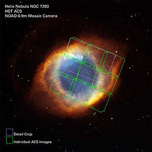 Helix Nebula ACS Exposures on Full Image