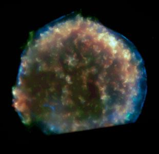 Expanding Bubble of Tycho's Supernova [Chandra]