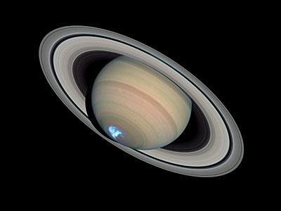 Saturn's dynamic aurorae 1 (Jan 26, 2004)