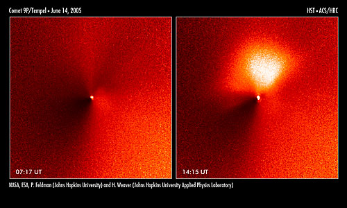 Hubble captures outburst from comet targeted by Deep Impact