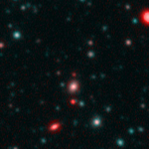 "Spitzer and Hubble team up to find ""Big Baby"" galaxy in the newborn Universe [Spitzer/IRAC view]"