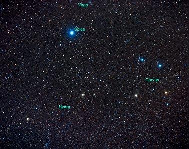 Constellation Corvus [annotated] (ground-based image)