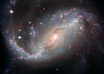 Stellar Nursery in the arms of NGC 1672