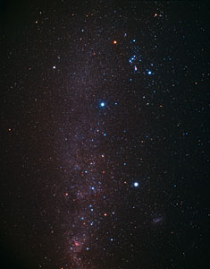 The Southern Sky with the Dorado Constellation (ground-based image)