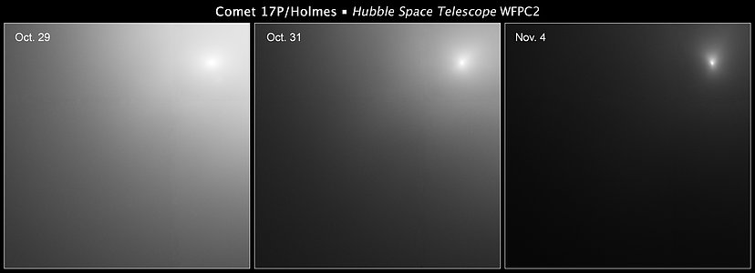 Comet 17P/Holmes Hubble image series