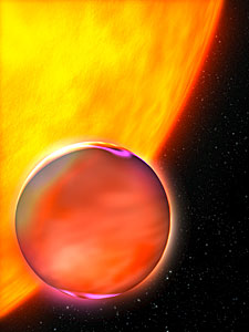 Artist's Concept of Extrasolar Planet's Hazy Atmosphere