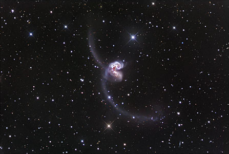 Ground-based image of the Antennae Galaxies