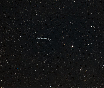 Hubble Ultra Deep Field region from the Digitized Sky Survey (ground-based image)