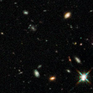 Early galaxies in HUDF WFC3/IR, close up 1