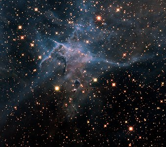 "Hubble's wide view of ""Mystic Mountain"" in the infrared"