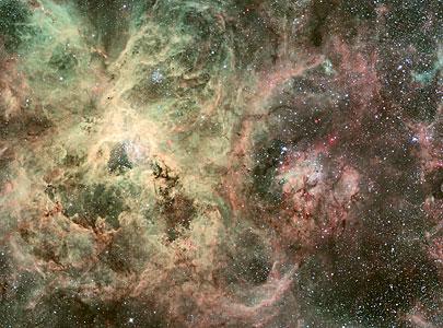 Homeless star in 30 Doradus (ground-based image)