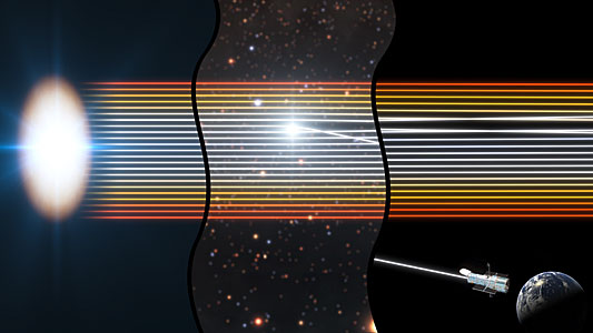 Using gravitational lensing to observe the disc around a black hole