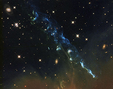 Hubble image of Herbig-Haro object HH 110