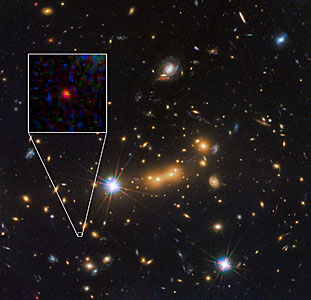 Hubble spots candidate for most distant known galaxy